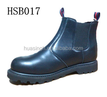 high quality work time british no lace design pull on safety boots with side elastic
