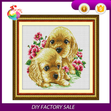wholesale DIY animal cross stitch kits for wall decoration