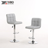 Hot selling ukfr bar stool chair with chromed base footrest for kitchen