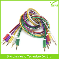 Yaika aux cable glod plated for iphone 3.5mm audio cable for car