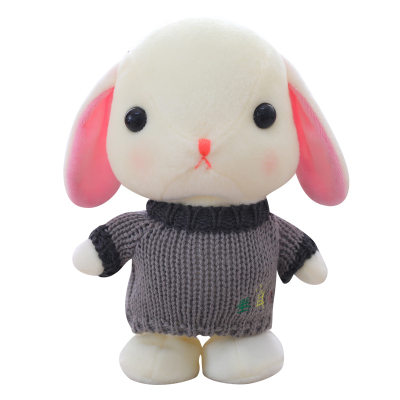 Wholesale cartoon sweater <strong>rabbit</strong> electric talking and moving toy