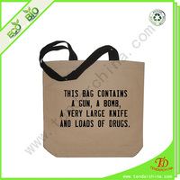 Bag Cotton For Shopping With Silk Screen Printing Cheap Canvas Cotton Bag