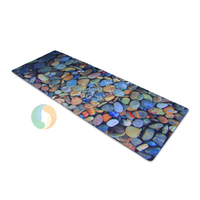 Fitness eco yoga mat with carrying sling