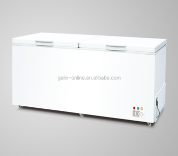 New type double top open door chest freezer 508L