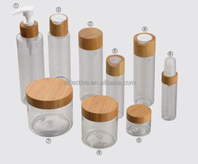 clear pet plastic spray cosmetic packaging squeeze bottle