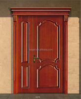 solid teak wood main mother-son doors with engraving machine