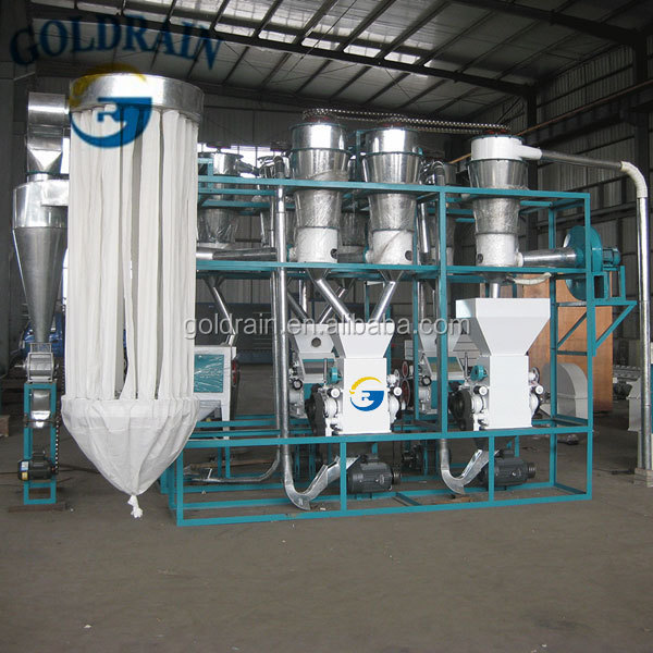 Grain milling and wheat flour mill machine 10 tons each day