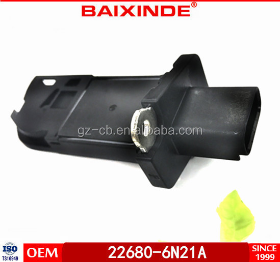 BAIXINDE Hot Sale Mass Air Flow Sensors/MAF Sensor 5 PINS OEM 22680-6N215 22680-6N21A