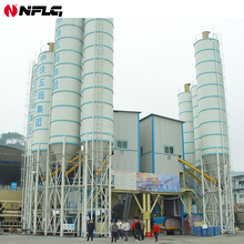 Fujian hzs series macon concrete batching plant is on hot sale