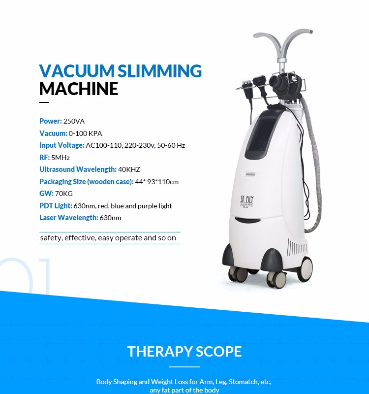 Ultrasound cavitation rf body shaping system slimming machine