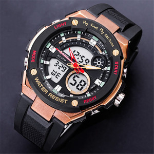 OTS 8303 Watches Top Luxury Brand Quartz Watch Men Electronic Digital LED Watches Waterproof Sports Army Military WristWatches