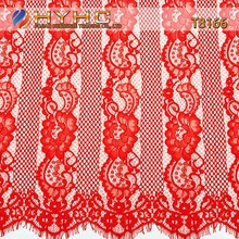 High Quality Nylon/Cotton Cording Lace Fabric T8166