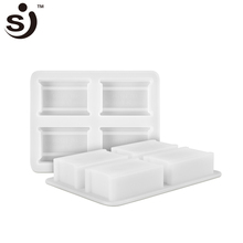 New product silicone soap molds 4 square soap bar for herbal organic handmade soap