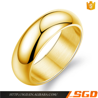 Simple unique wholesale ring 14k yellow gold jewelry