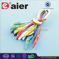 5 colors insulated alligator clips with wire crocodile clamps