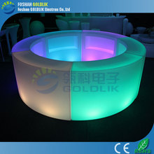 Nightclub led plastic bar counter with unique design GKT-021BC
