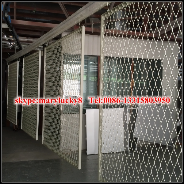 powder coated aluminum expanded metal mesh panels