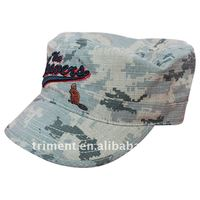 digital camo cotton fabric military hat