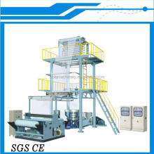 Double Layer Coextrusion Rotary Die HDPE LDPE PE Film Blowing Machine, Plastic Film Machine