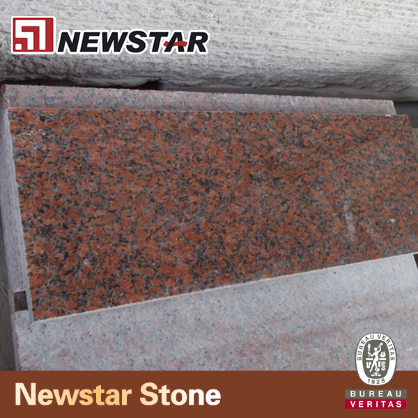 Cut to size polished chinese maple red granite