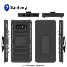 For samsung note 8 holster combo case, heavy duty ultra protective case for note 8