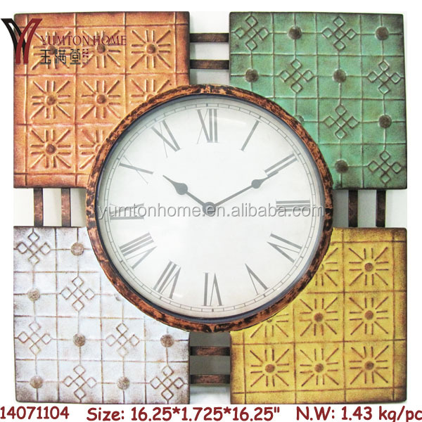 2018 Latest design metal wall clock antique style clock