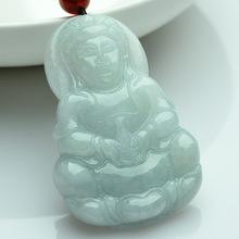 Jade pendant for promotional, natural carved jade buddha for men