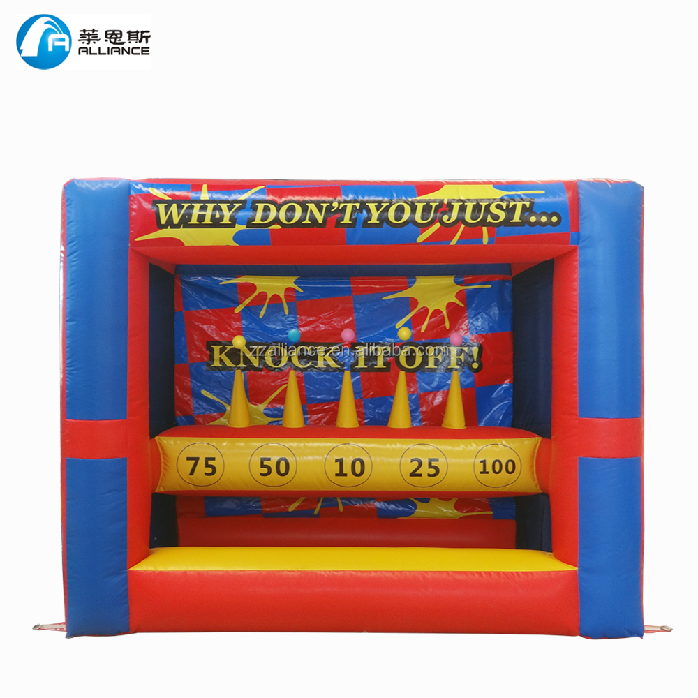 inflatable sport toss game inflatable knock it off