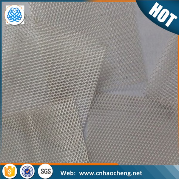 Good electric conductivity 20 40 mesh pure silver metal mesh clothing woven wire cloth
