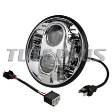 "Hyper Power Offroad 7"" Round LED Headlight, High/Low Beam 7"" Headlight For Jeep Wrangler, Toyota, Motorcycle"