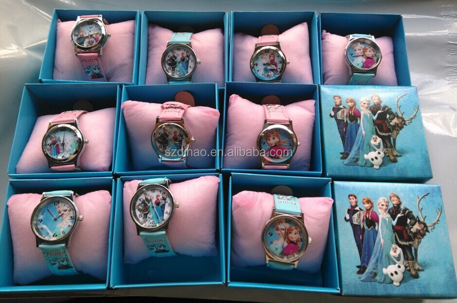 DIHAO Frozen watch Hot selling new cheap cartoon frozen watch for kids