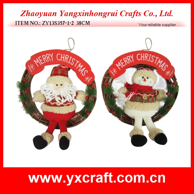 Wholesale christmas garland with santa head