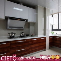 American Standard prefab fashional stable designed melamine carcass Customized Color, Size kitchen cabinet with long warranty
