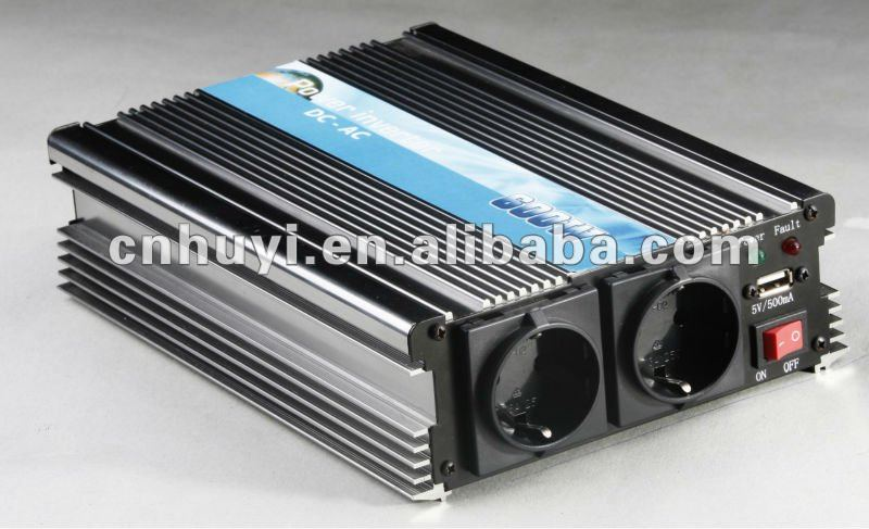 800W modified sine wave power inverter with German socket