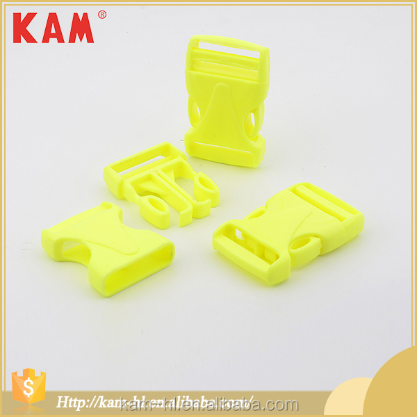 Bag accessories yellow plastic dual side release 2015 buckle