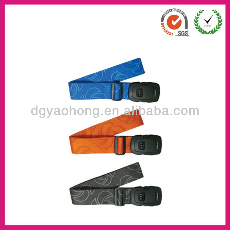 Custom strong luggage strap with safety buckle