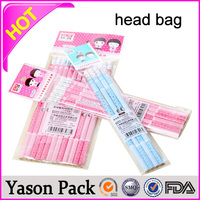 Yason a4 style opp header packing bag with printing header and tape customized logo printed opp bag with header design head gas