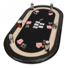 72 inch oval foldaway poker table top with bumper surround and racetrack