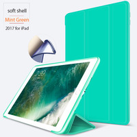 Hot Selling Case For New Apple iPad 9.7 2017 Luxury Leather Folio Smart Stand Flip Case Cover