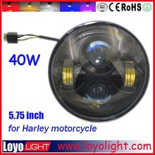 wholesale 5.75 inch 40w round motorcycle high low beam led headlight for harley davidson