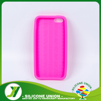 Non-toxic pink color silicone phone accessories case