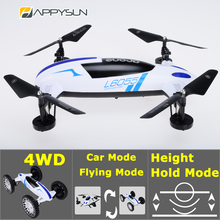 Out Door Game Toy For Kids 2-In-1 RC Stunt Drone with Camera RC Car Electrics