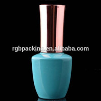 wholesale custom made triangle shaped glass nail color packaging bottle with striaght round cap