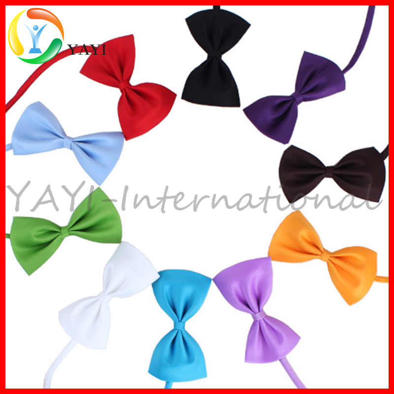 Adjustable Wholesale Assorted Color Dog Cat Pet Bow Tie Collar