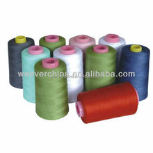 polyester ring spun sewing thread 40/2 8000m in white and colors