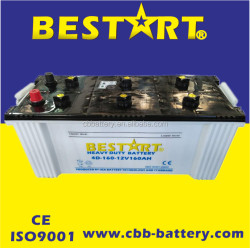 12V 160ah Dry cell dry charged battery truck battery BCI 4D-160