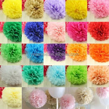 Yiwu Aimee supplies wholesale different size tissue paper pom poms flower balls, crepe paper flower(AM-PB01)