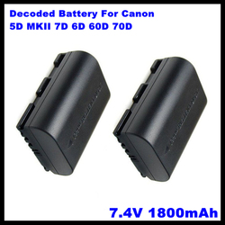 LP-E6 LP E6 LPE6 1800Mah Camera Batteries For Canon 5D Mark Ii Iii 7D 60D Eos 6D, For Canon Accessories
