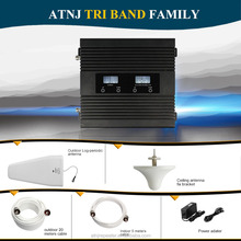 High Gain 70dbi ,Smart tri-band 900/1800/2100mhz Mobile Signal Booster GSM DCS WCDMA Cell Phone Signal repeater amplifier