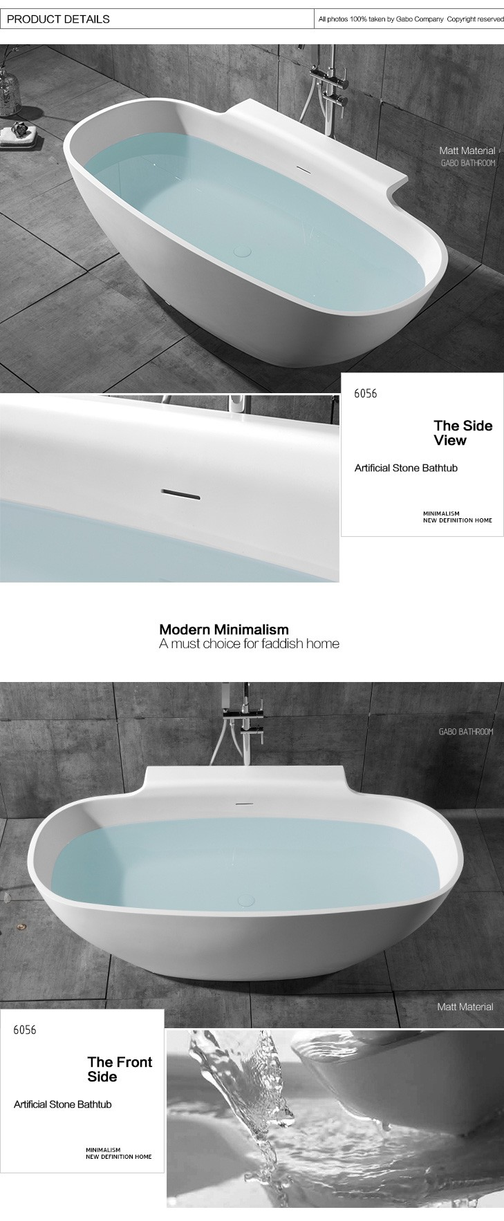 Man-made stone bath tub with prices